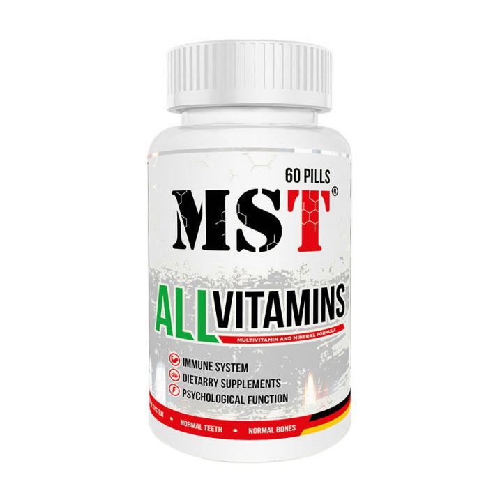 Мультивітамінний комплекс MST All Vitamins 60 pills