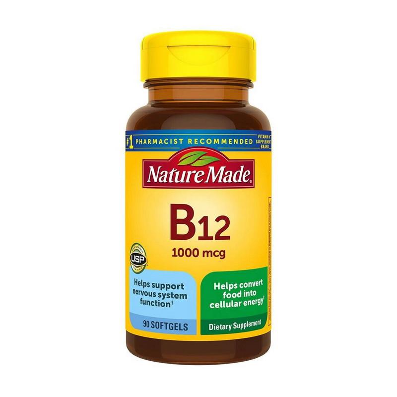 Вітамін В12 (ціанокобаламін) Nature Made B12 1000 mcg 90 softgels