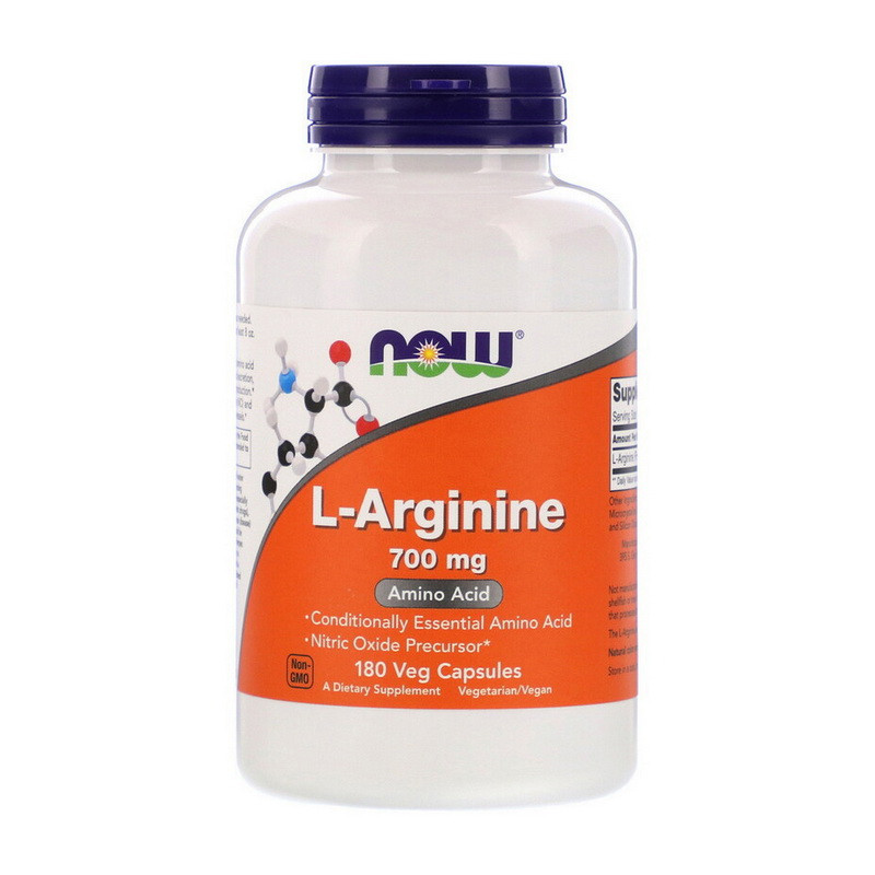 Аргінін NOW L-Arginine mg 700 180 veg caps