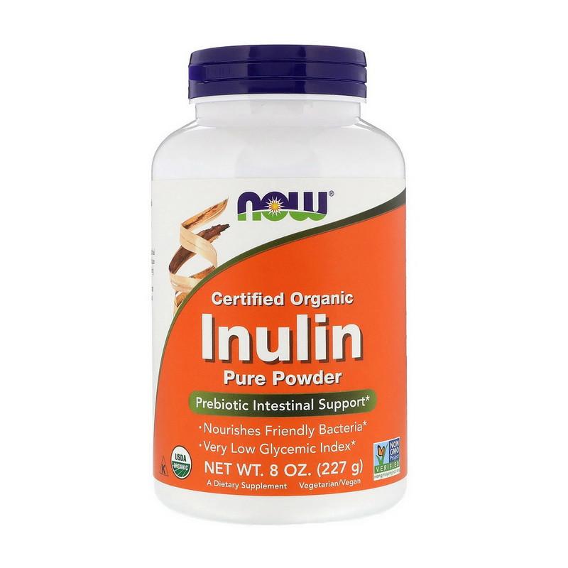 Органічний інулін (FOS) NOW Inulin Pure Powder 227 g