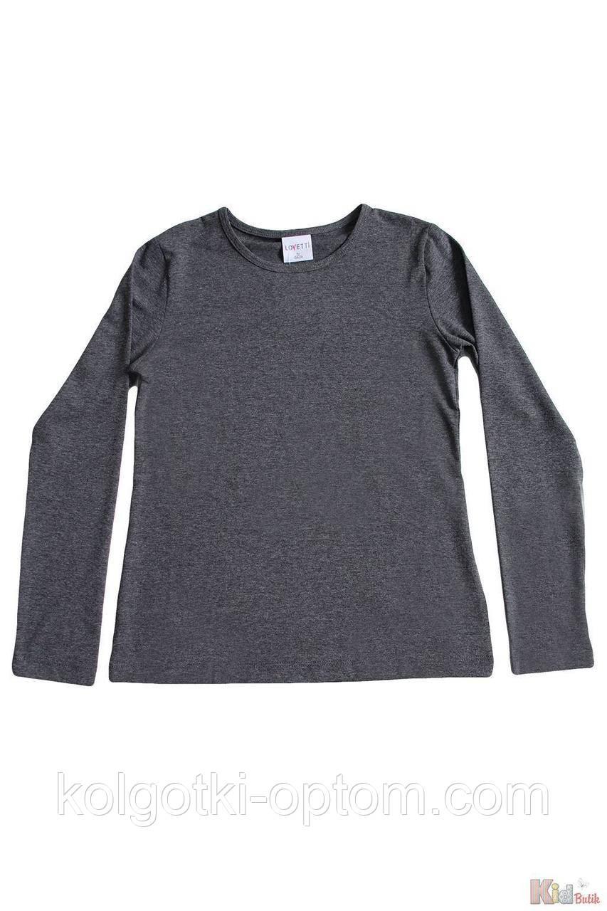 ОПТОМ Реглан цвета темный антрацит базовый для девочки-подростка (134 см.)  Lovetti 2125000687339