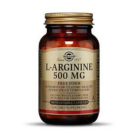 Аргінін Solgar L-Arginine 500 mg 100 veg caps