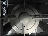 Sistema 301 FFD (600 мм.) газовая варочная поверхность цвет черное стекло / алюминиевая рамка, фото 4
