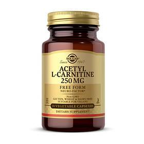 Ацетил L-карнітин Solgar Acetyl L-Carnitine 250 mg 30 veg caps