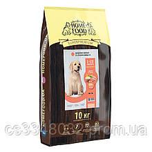 Home Food  DOG PUPPI MEDIUM MAXI «Индейка и лосось» корм для щенков здоровая кожа и блеск шерсти 10кг