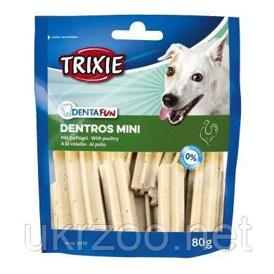 Лакомство для собак Trixie Denta Fun Dentros Mini 80 г (домашняя птица) 31773