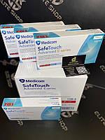 Нитриловые перчатки неопудренные MEDICOM SafeTouch Advanced Slim, размеры S, M и L, 100 шт/уп.