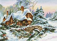 Набор для вышивания нитками LUCA-S Зимний пейзаж (BU5001)