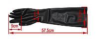 Черные латексные перчатки. Бесшовные латексные длинные перчатки, размер XL, фото 3