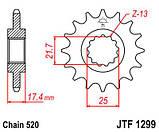 Звезда стальная передняя JT Sprockets   JT JTF1299.14, фото 2
