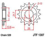 Звезда стальная передняя JT Sprockets   JT JTF1307.14, фото 2