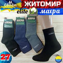 Носки мужские махровые х/б Житомир ассорти Elite 27р Украина НМЗ-04394