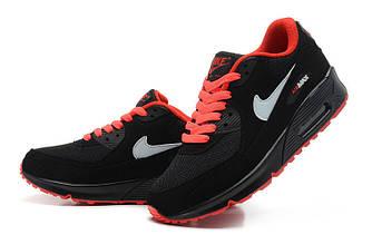 Кроссовки Nike Air Max 90 Black Red Черные женские