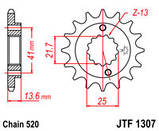 Зірка сталева передня JT Sprockets JT JTF1307.15, фото 2