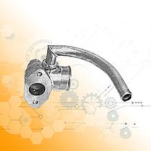 Патрубок водяного насоса МАЗ (дюралевий) 6422-1303240
