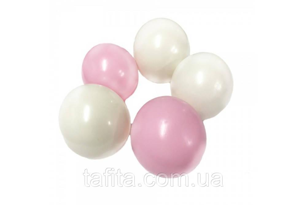 Желейные белые и розовые