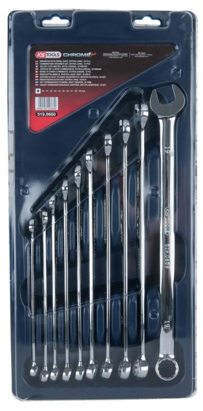 Набор ключей накидных с 15° смещением головки 10 шт 519.0660 KS Tools Германия
