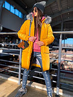 Шикарная зимняя куртка-парка с опушкой, фото 1