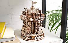 Механические 3D пазлы UGEARS - «Карусель», фото 2