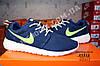 Кроссовки Nike Roshe Run Blue Green Синие женские, фото 4
