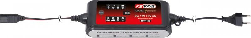 Зарядное устройство автомобильных аккумуляторов 6 и 12 вольт KS Tools Германия
