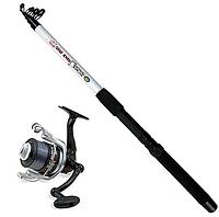 Набор удилище спиннинговое с катушкой FD30 Lineaeffe Combo Extreme Fishing Snake Head 2.40 м д