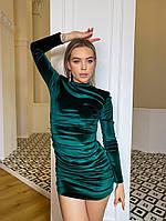 Шикарное бархатное мини платье, фото 1