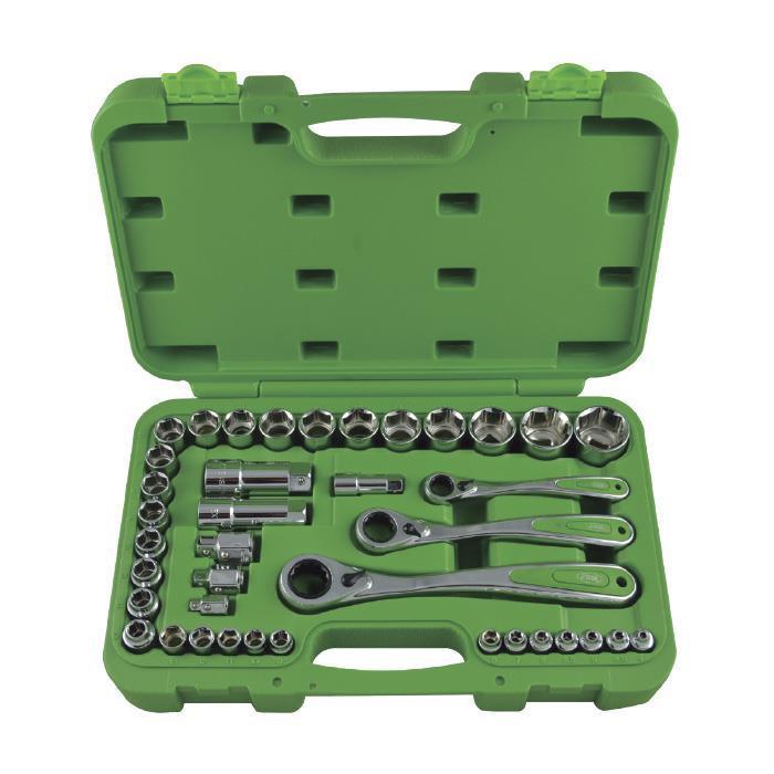 Набор инструмента с сквозной трещоткой на 39 предметов JBM