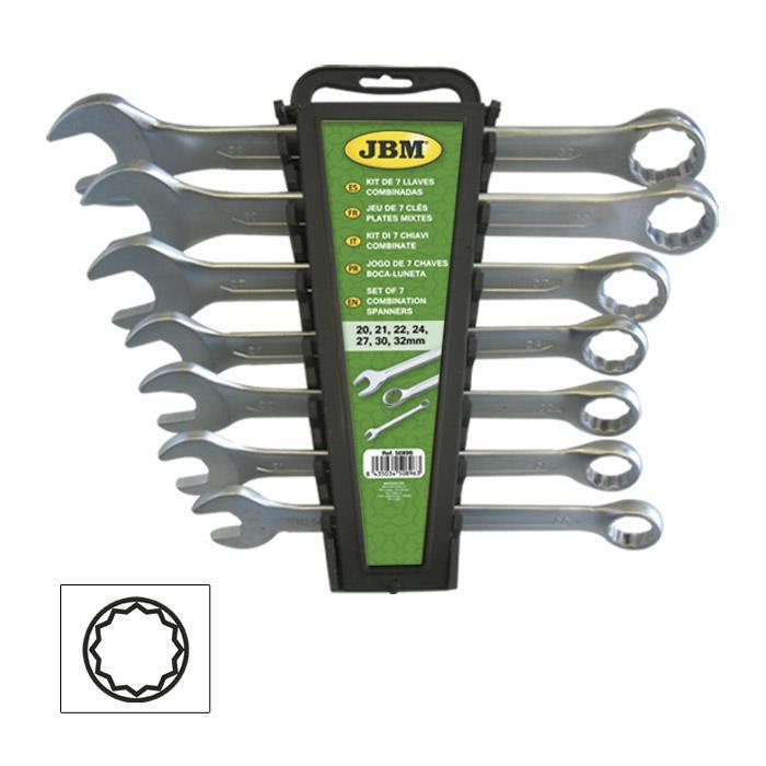 Набор комбинированных ключей 7 шт. JBM