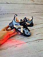 Кроссовки для девочек W.niko *светящиеся 24р, 15см
