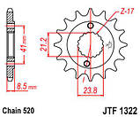 Зірка сталева передня JT Sprockets JT JTF1322.15, фото 2