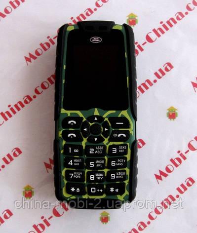 Тактический телефон LAND ROVER (аналог RANGE ROVER) XP3300 - 2 Sim, 16000 mAh power bank, фото 2
