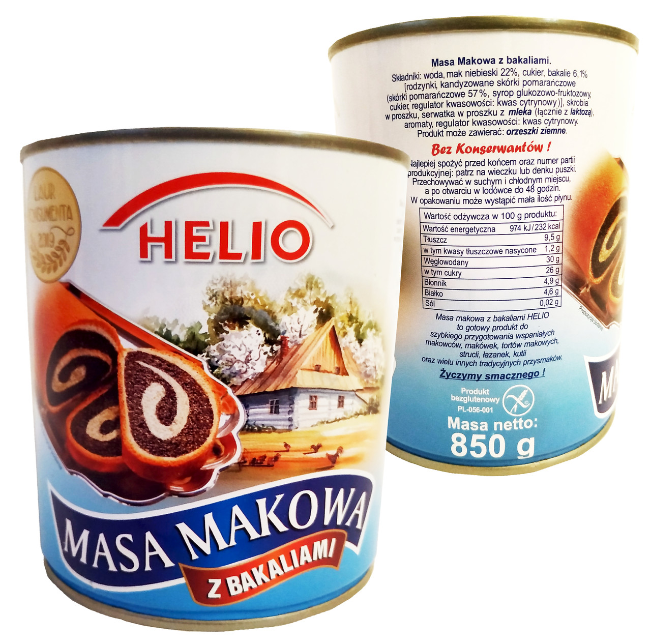 Маковая масса HELIO 850g с сухофруктами и орехами