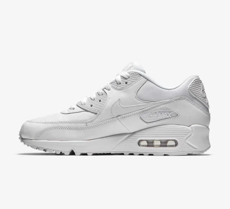 Кроссовки Nike Air Max 90 Leather White Белые женские