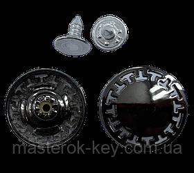 Джинсовая пуговица NEW 20мм цвет темный-никель Италия