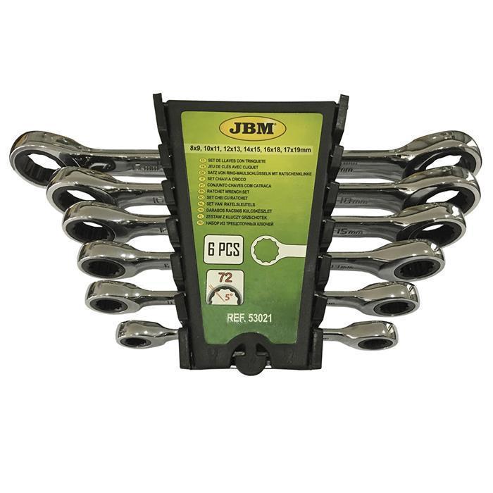 Набор ключей с трещоткой двухсторонних, 6 пр. 53021 JBM