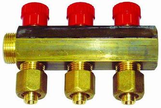 Коллектор APE ITALY 7884 L 3/4х16 4-ой с перекрытием