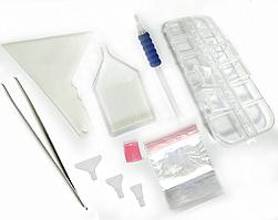 Комплект инструментов с органайзером и шпателем фиксации для алмазной вышивки мозаики набор стилус ручка