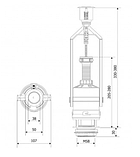 Арматура спускная двухкнопочная ZSD-206+ключ для монтажа, фото 2