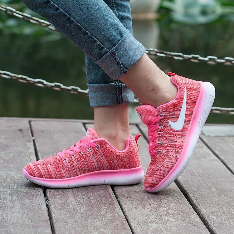 Кроссовки Nike Free Run 5.0 Flyknit Pink Розовые женские