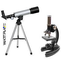 Микроскоп Optima Universer 300x-1200x + Телескоп 50/360 AZ в кейсе (MBTR-Uni-01-103) набор