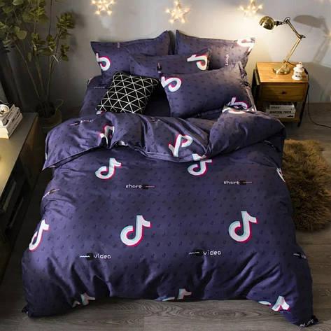 Двуспальный комплект постельного белья евро 200*220 хлопок  (16094) TM KRISPOL Украина, фото 2