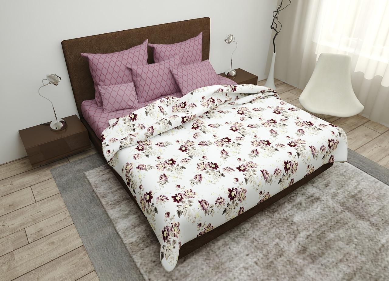 Двуспальный комплект постельного белья евро 200*220 хлопок  (16095) TM KRISPOL Украина