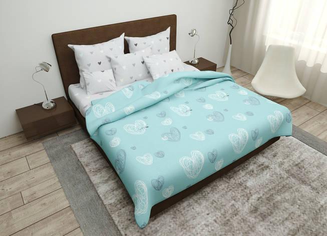 Двуспальный комплект постельного белья евро 200*220 хлопок  (16098) TM KRISPOL Украина, фото 2