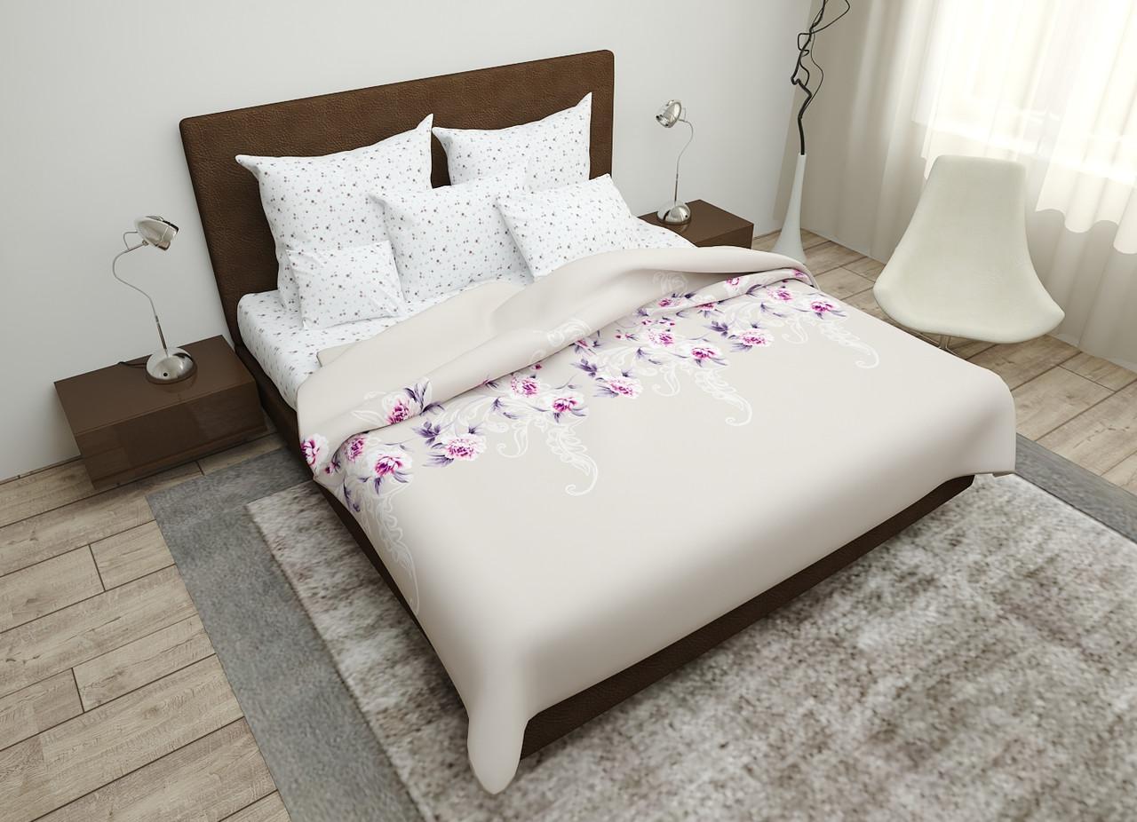 Двуспальный комплект постельного белья евро 200*220 хлопок  (16099) TM KRISPOL Украина