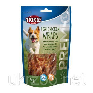 Лакомство для собак Trixie PREMIO Fish Chicken Wraps 80 г (курица и рыба) 31590