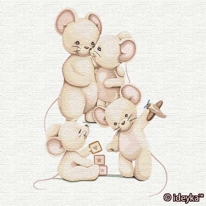 Картина по номерам Cчастливая семья   ТМ Идейка 30 х 30 см КНО2359