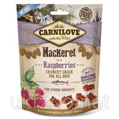 Лакомство для собак Carnilove Mackerel with Raspberries 200 г (для иммунитета) 100409