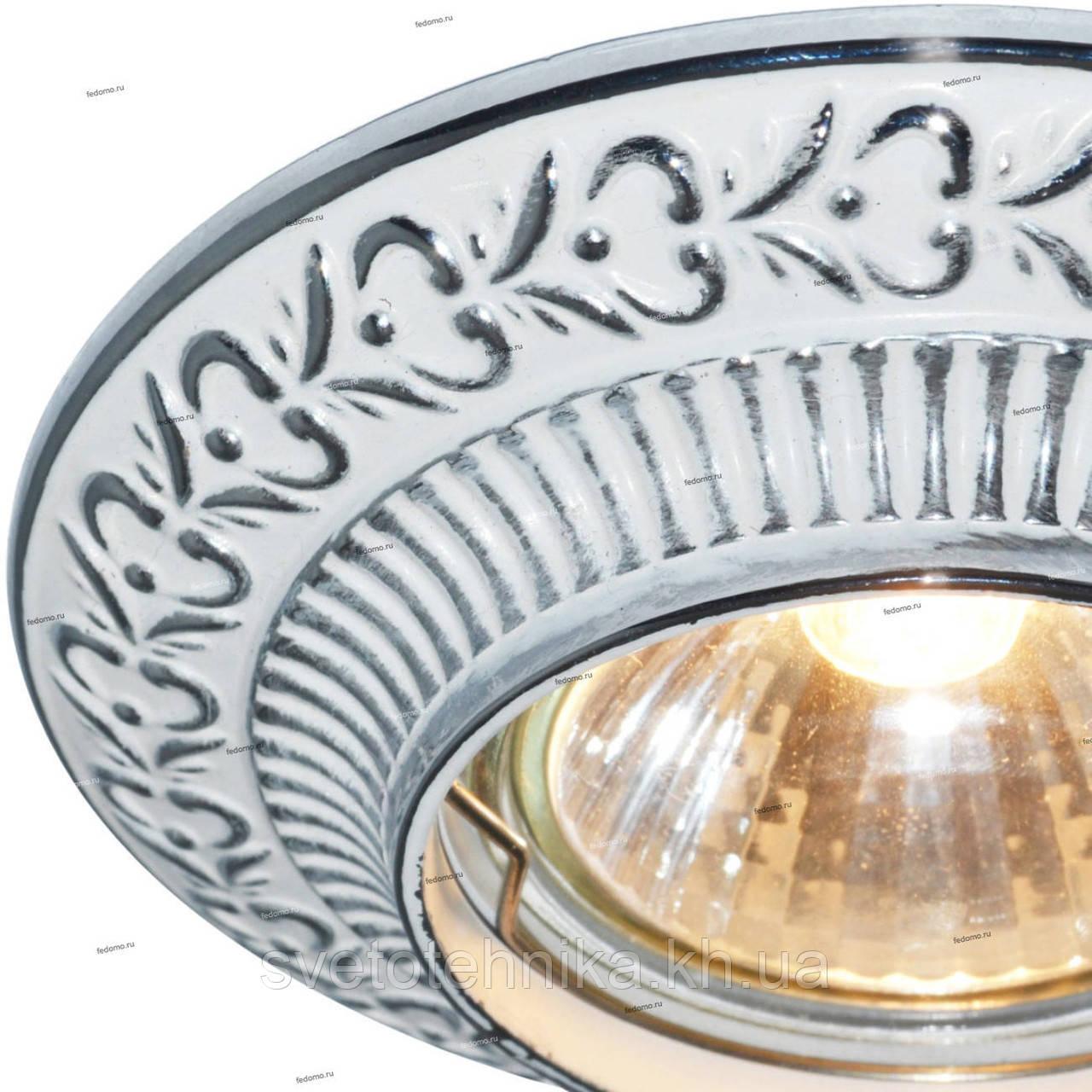 Встраиваемый светильник Feron DL6240 белый серебро