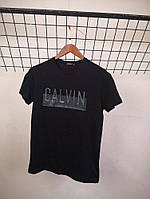Футболка Calvin Klein Black ( резиновый принт)